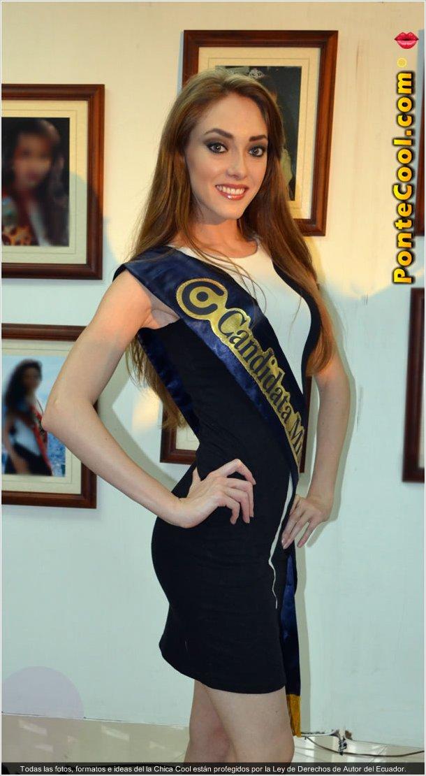 Andrea Barragán candidata a Miss Ecuador 2015 representante de Quito