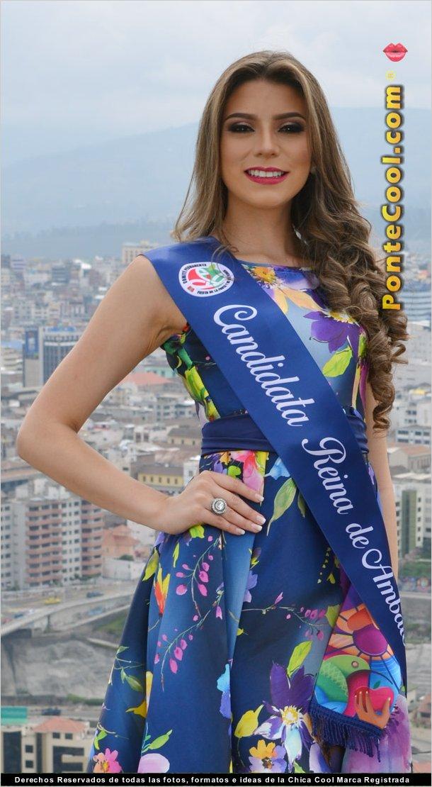 Carla Medrano candidata a Reina de Ambato 2018
