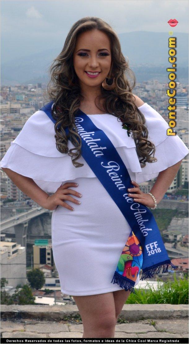 Valeria Larrea candidata a Reina de Ambato 2018